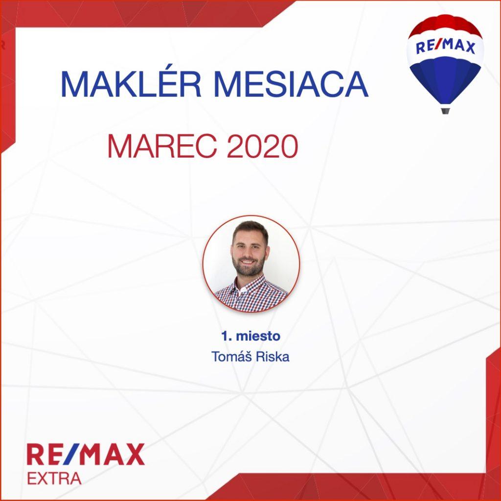 - Najúspešnejší maklér za marec 2020 - reallitná kancelária Trenčín a Žilina 1