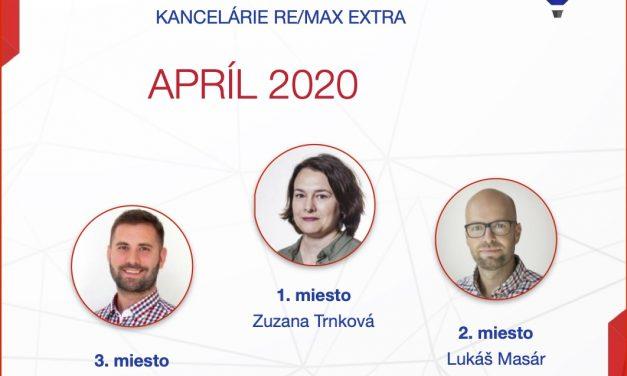 Najúspešnejší maklér za april 2020
