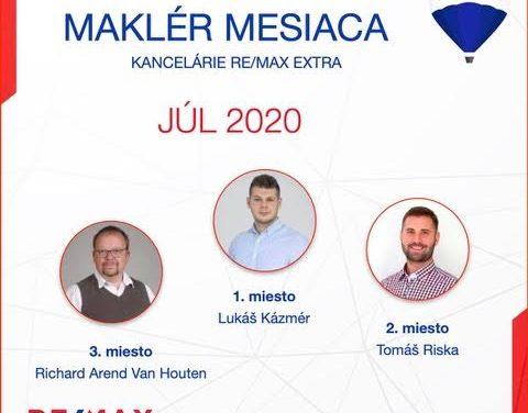 Najúspešnejší maklér za júl 2020