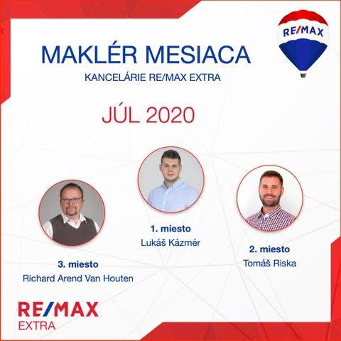 - Najúspešnejší maklér za júl 2020 - reallitná kancelária Trenčín a Žilina 1