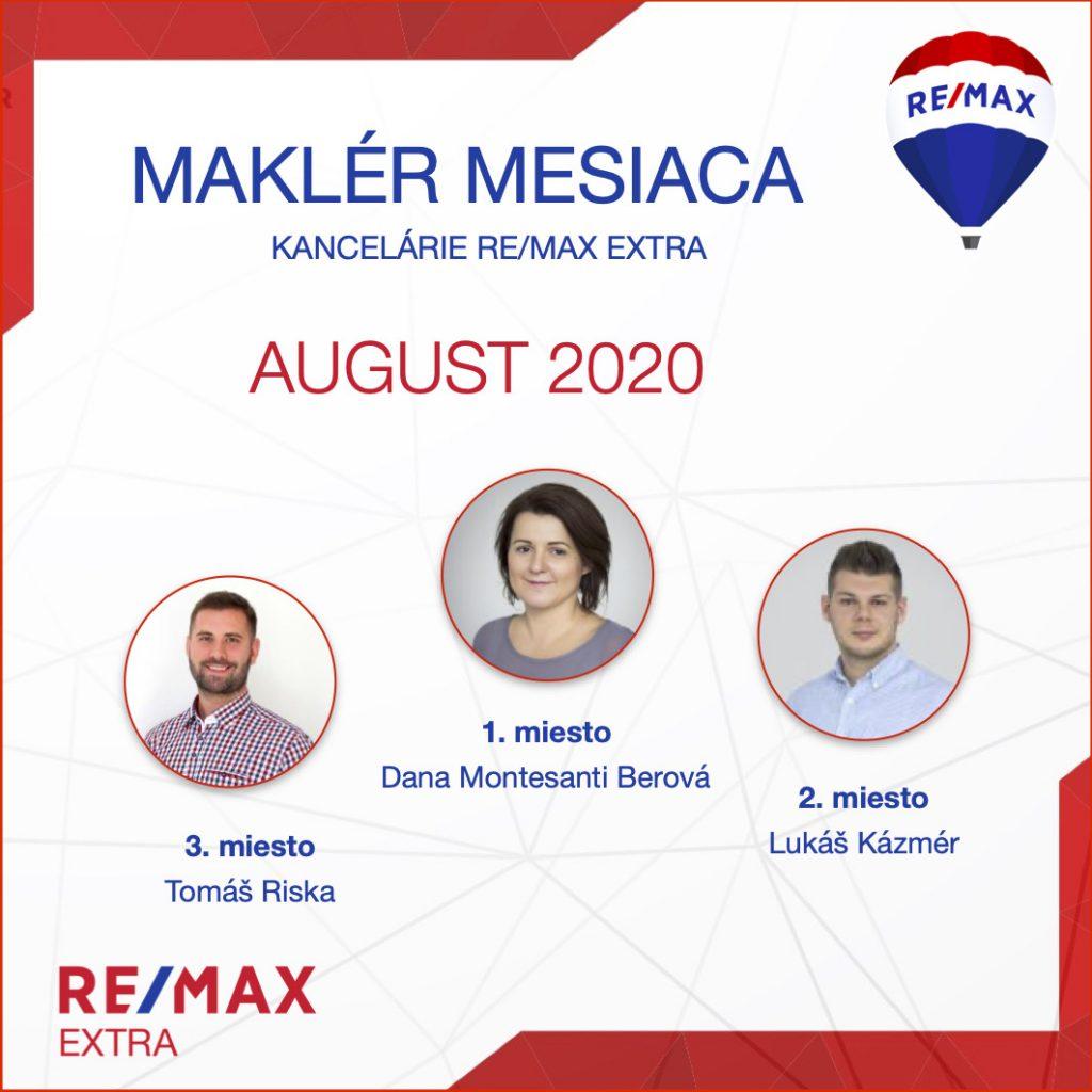 - Najúspešnejší maklér za august 2020 - reallitná kancelária Trenčín a Žilina 1
