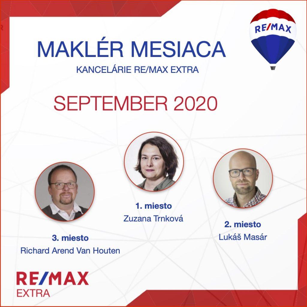 - Najúspešnejší maklér za september 2020 - reallitná kancelária Trenčín a Žilina 1
