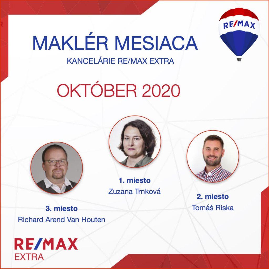 - Najúspešnejší maklér za október 2020 - reallitná kancelária Trenčín a Žilina 1