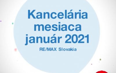 Realitná kancelária RE/MAX Extra získala ocenenie Kancelária mesiaca za Január 2021