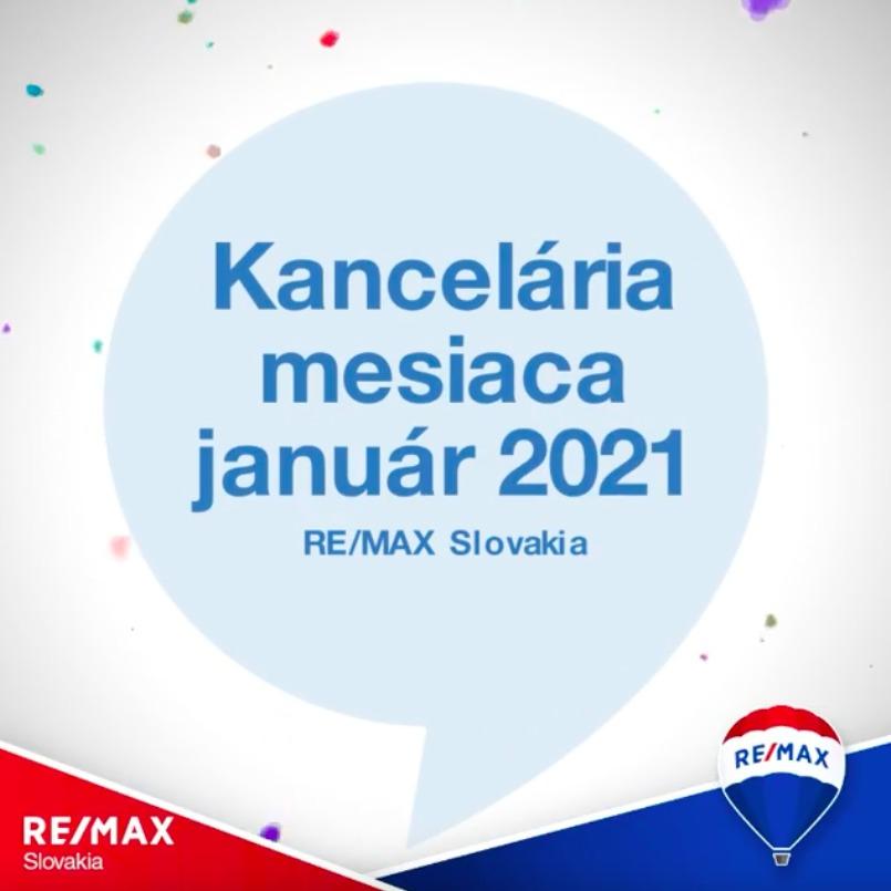 - Realitná kancelária RE/MAX Extra získala ocenenie Kancelária mesiaca za Január 2021 - reallitná kancelária Trenčín a Žilina 1