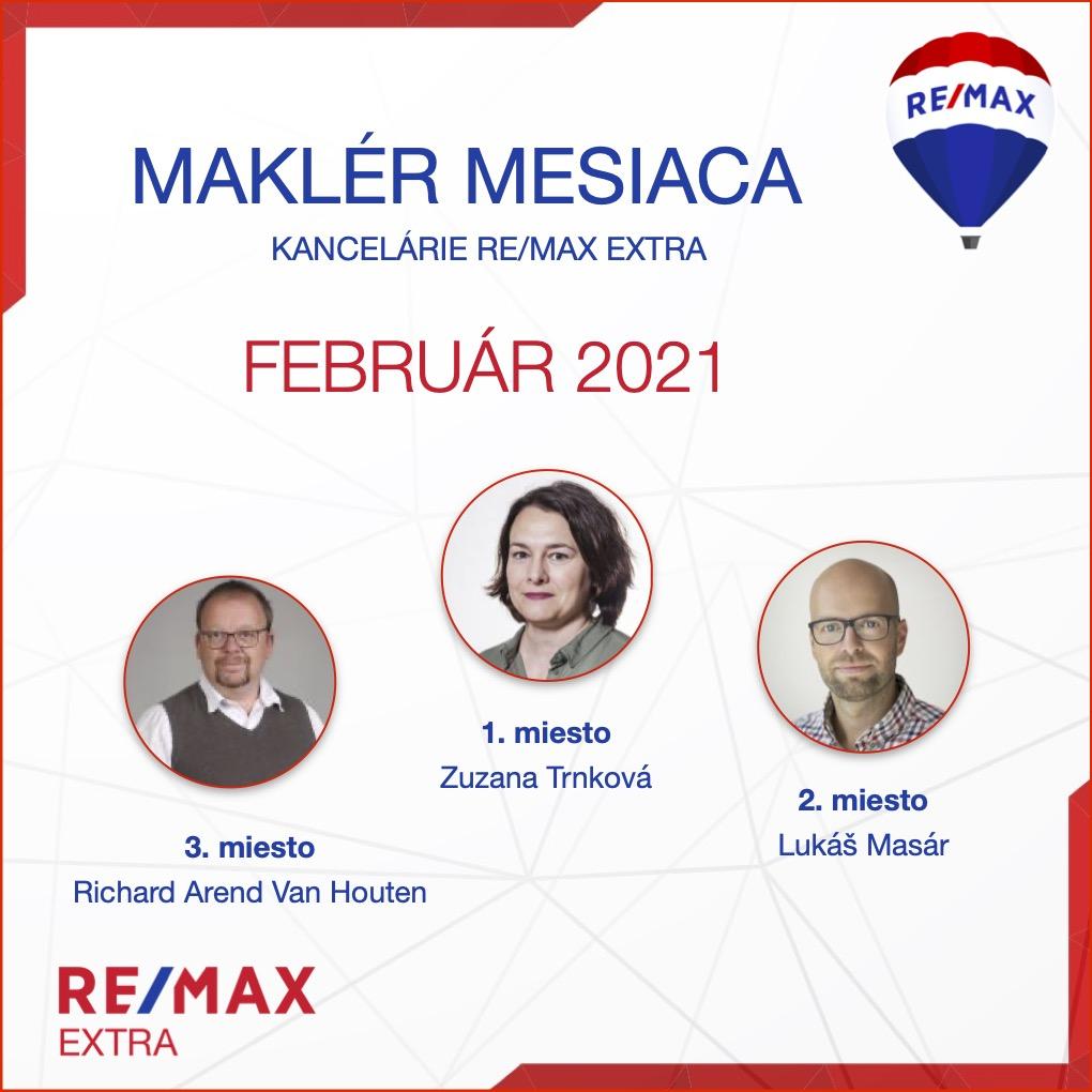 realitný maklér - Najlepší realitny maklér za MESIAC FEBRUÁR - 2021 - reallitná kancelária Trenčín a Žilina 1