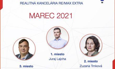 Najlepší realitný maklér za MESIAC MAREC – 2021