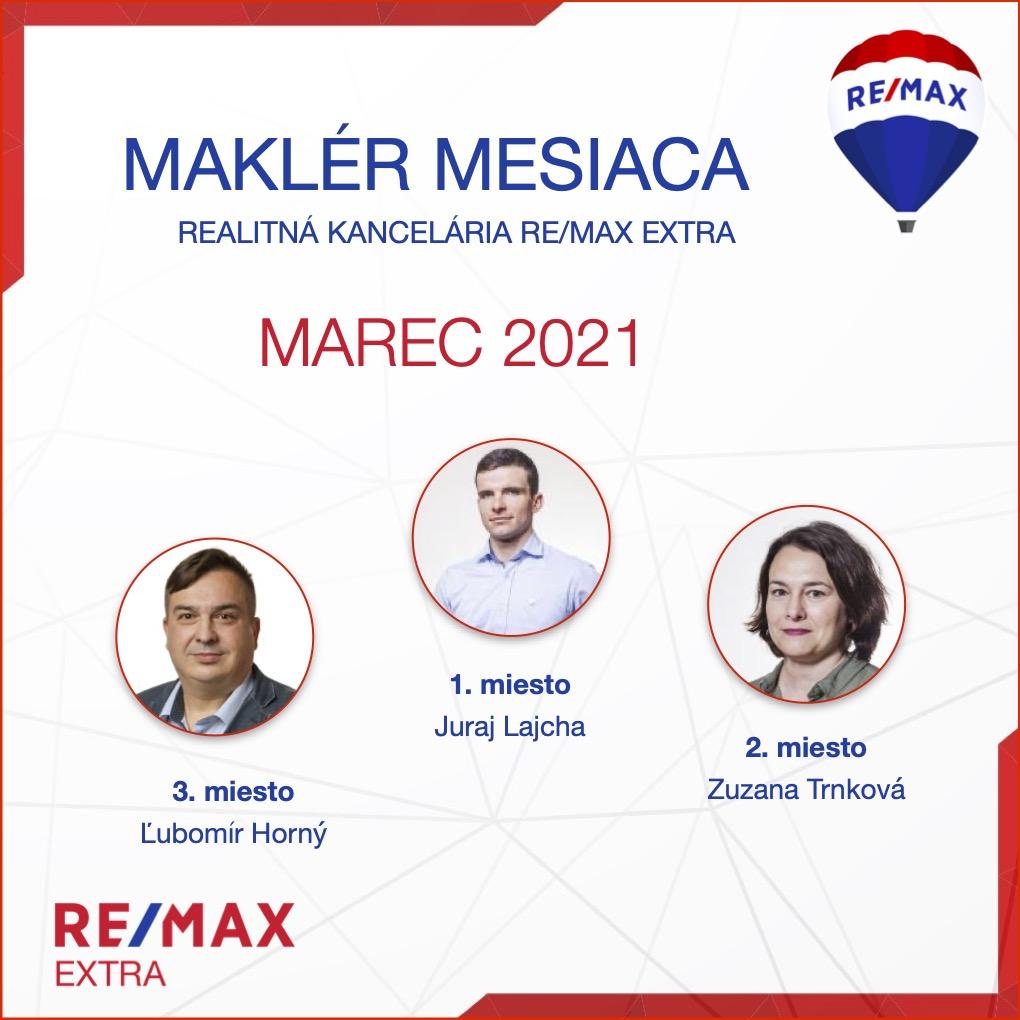 realitný maklér - Najlepší realitný maklér za MESIAC MAREC - 2021 - reallitná kancelária Trenčín a Žilina 1