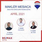 Najlepší realitný maklér za MESIAC APRÍL – 2021